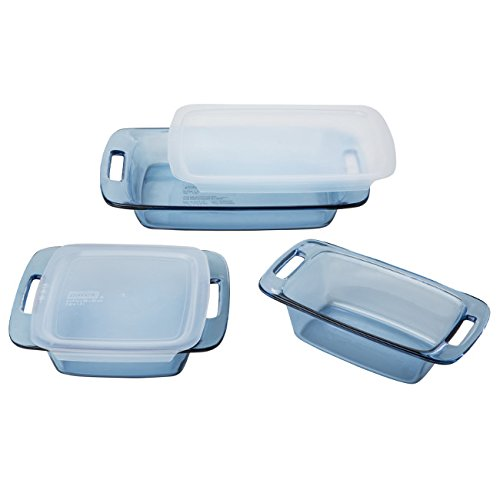 - Pyrex 5 Piece Atlantic Bakeware Set, Blue