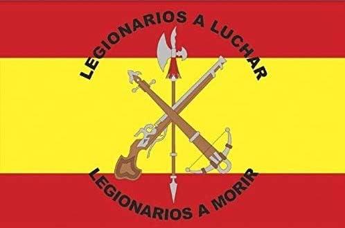 TB Bandera de Legion de España,150x90cm, 2 Unidades: Amazon.es: Jardín