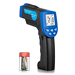 Holdpeak 320 Non Contact Digital Laser Infrared Thermometer Temperature Gun 22 To 608°f 30 To 320°c With Laser And Lcd Backlit Blue