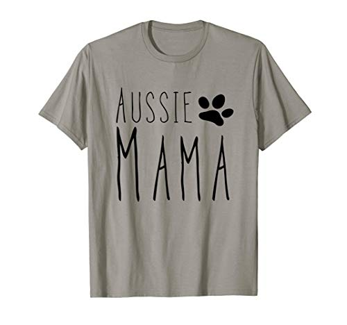 Australian Shepherd Mom T-Shirt for Aussie Dog Gifts Shepard ()