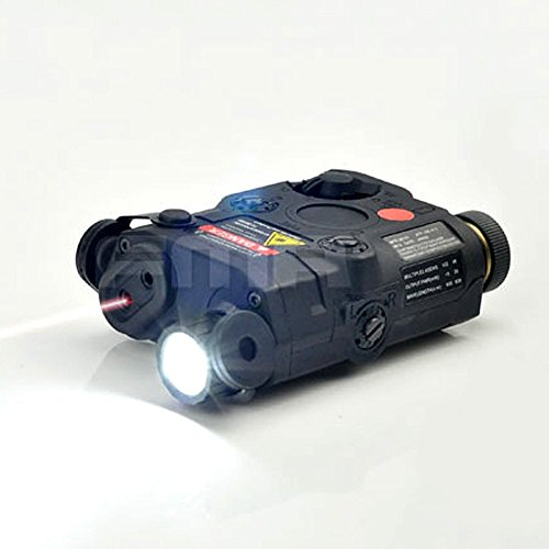 H World Shopping Airsoft Version Black Airsoft PEQ 15 Style Powerful LED Flashlight + Red Laser Sight for AEG GBB CQB