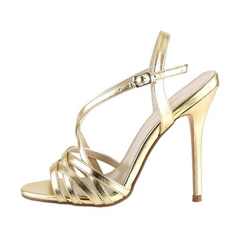 Amuse Women's Sandalo Oro Blk Amuse Pat Pleaser Pu Donne Mat Sandal Delle Pat Pleaser Pu E Gold 13 Mat Blk 13 d5xOUUw
