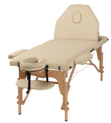 The Best Massage Table 3 Fold Cream Reiki Portable Massage Table – PU Leather