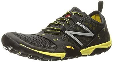 New Balance Men's MT10V1 Trail Running Shoe, Grey/Yellow, 7 2E US