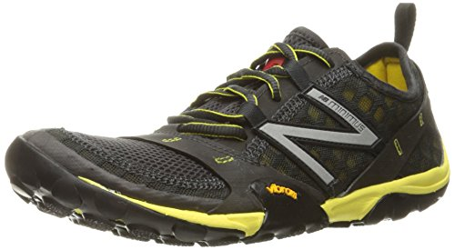 New Balance Men's MT10V1 Minimus Trail Running Shoe, Grey/Yellow, 12 D US