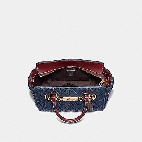 COACH F39905 BLAKE CARRYALL 25 WITH QUILTING DENIM by Coach (Image #4)