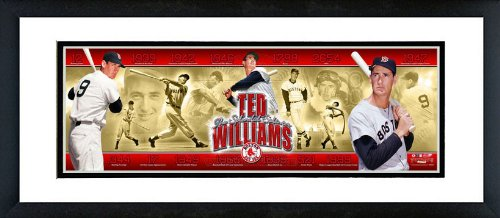 Boston Red Sox Ted Williams Career Collage Framed Panoramic 12x36