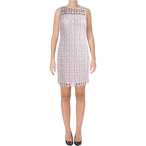 Lauren Ralph Lauren Womens Melia Geometric Lace Cocktail Dress Pink (Ralph Lauren Pink Dress)