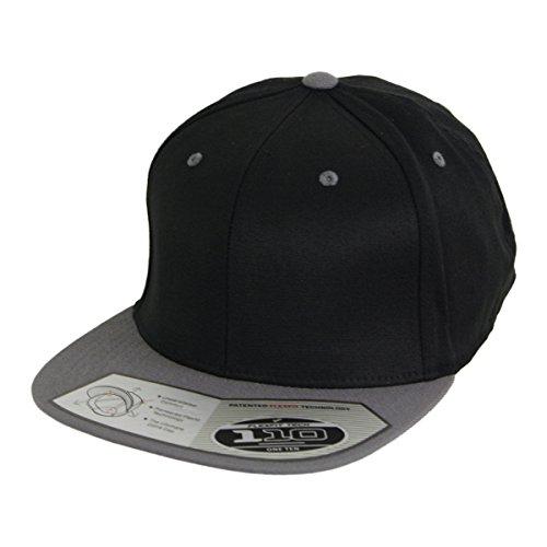 Fitted 110 flexfit casquette snapback gris/noir-taille unique-ajustable