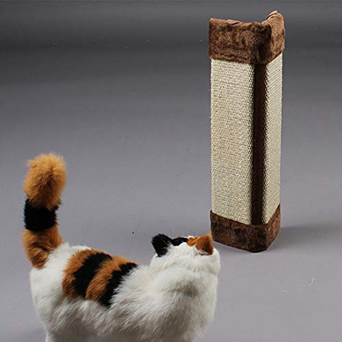 Brown Matboard - INLAR Cat Scratcher Hanging Sisal Scratching Post Mat Board Furniture Wall Protector Claw Scratcher(Brown)