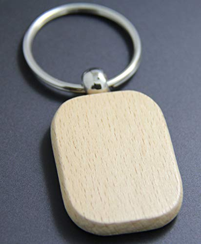 VT BigHome Blank Rectangle Wooden Key Chain Promotion Customized Key Tags Promotional Gifts by VT BigHome