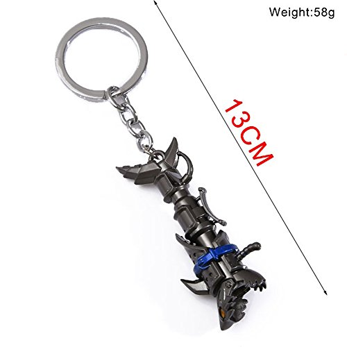 Cosplaywho League of Legends Jinx Rocket Cannon Weapon Charms (Keyring) (Legend Womens)