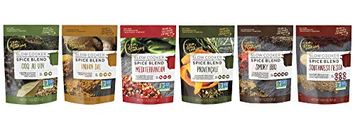 (the zen of slow cooking Spice Blend Sampler, Set of 6 Seasoning Packets for Crockpot, Instant Pot, and Multi-cookers)