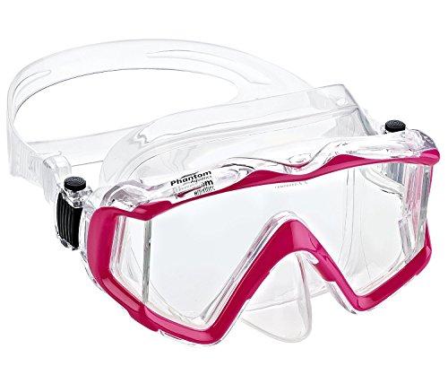 Phantom Aquatics Panoramic Scuba Snorkeling Dive Mask, Pink ()