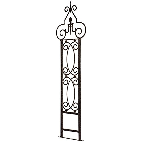 H Potter Garden Trellis for Climbing Plants Wrought Iron Metal for Vine Rose Flower 124