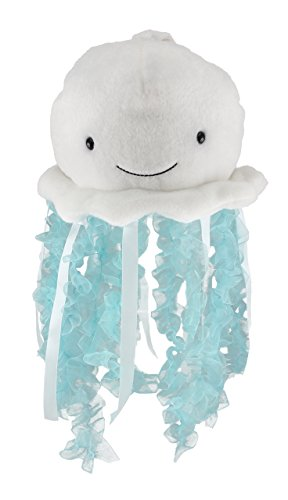 "Cuddle Barn Jellyfish Light-Up Musical Stuffed Animal, 12"" Plush Toy Attaches to Crib Mobile has Soft Illuminating Lights and Soothing Ocean Wonder Melody to Help Baby Sleep (Bubbles)"