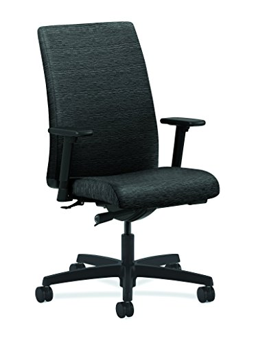HON Ignition Series Mid-Back Work Chair - Upholstered Computer Chair for Office Desk, Onyx (HIWM2)