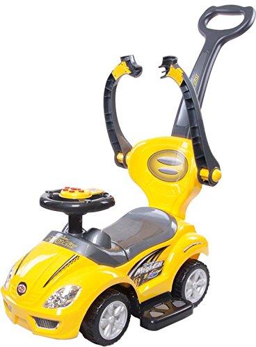 Sol Bebé Mega coche correpasillos con barra de empuje, color ...
