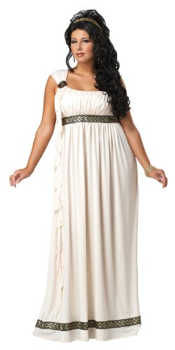 Greek Goddess Plus Size Costumes (California Costumes Plus-Size Olympic Goddess Dress, Cream, 1XL (16-18) Costume)