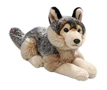 Amazon Com Carl Dick Wolf Lying 12 Inches 30cm Plush Toy Soft