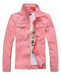 In-fashion style Men's Classic Slim Fit Denim Jean Jacket Coat
