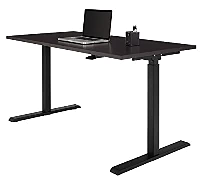 Realspace Magellan Pneumatic Stand Up Height-Adjustable Desk, Espresso