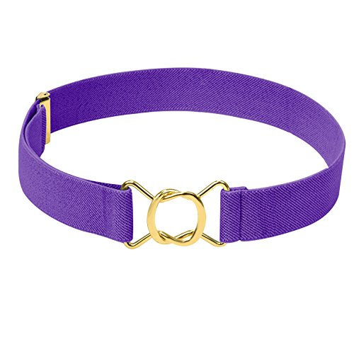 Hold'Em Kids Toddler Clasp Gold Buckle Belt-Purple