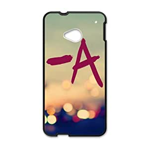 Happy Abstract Cityscape Cell Phone Case for HTC One M7