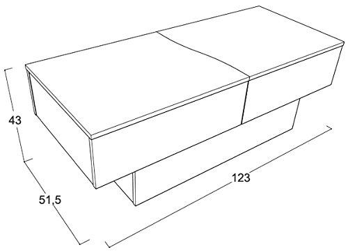 site réputé c5769 99daa Berlioz Creations City Box Table Basse Wengé 123 x 51 x 43 cm