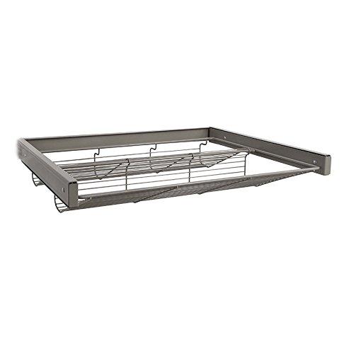 K&A Company Shoe Shelf - freedomRail, 23'' x 4'' x 17.75'' x 13 lbs, Nickel