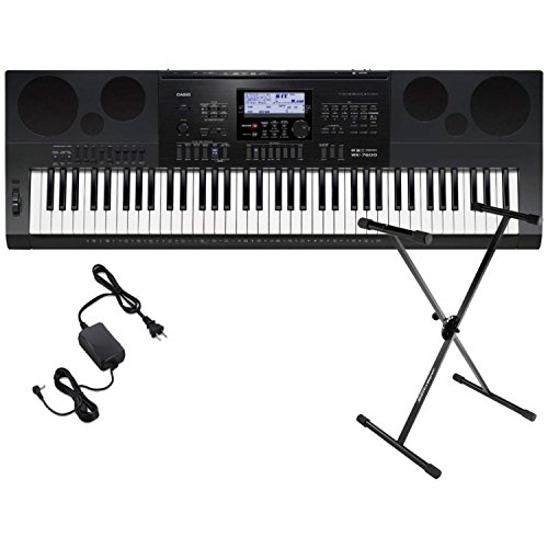 Casio WK6600 Workstation Keyboard with 76 Touch Sensitive Keys USB w/ Keyboard Stand and Power Supply by Casio