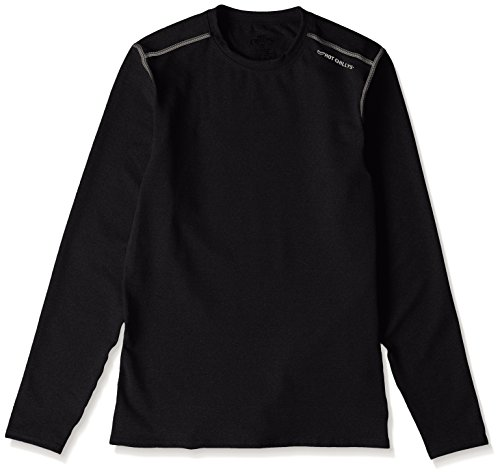 Hot Chillys Men's Micro-Elite Chamois Crewneck(Black, X-Large) (Micro Elite Chamois)