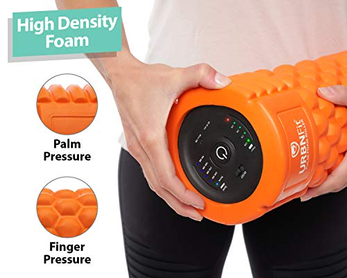 Vibrating Foam Roller - 5-Speed Massager and Roller for Muscle Recovery, Deep Tissue Trigger Point Massage Therapy - 5 Levels from Low To High Intensity Massage For Workouts -Includes Stretching Guide by URBNFit (Image #2)