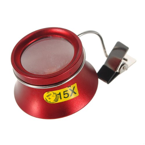 15X Clip On Jewelry Eyeglass Loupe Magnifier Magnifying For Watchmaker Collector