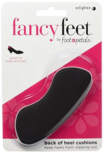Fancy Feet Women's Back of Heel Cushions, Black - Fancy Slip