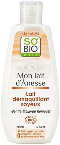 SO' BIO ETIC - Mon Lait d'Ânesse - Silky Make-up Remover Milk - With Donkey Milk - Shea Butter - Moisturizing and Soothing - 99% Natural - Cleansing and Softness - 200 ml