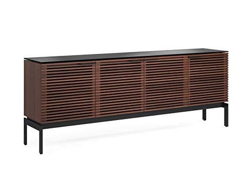 BDI Furniture CWL Corridor 7129 Quad Cabinet - Charcoal Stained Walnut Media Center Chocolate