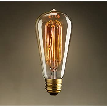 Vintage Edison 40W 110V E26 Base Squirrel Cage Filament ...