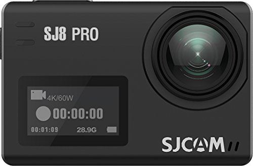 "SJCAM SJ8 Pro Sport Action Camera 4K 60fps Ambarella H22 S85 SONY IMX377 Wi-Fi Sports Cam Underwater Camcorder 12MP 30M Waterproof with High-clarity Digital Zoom 2.33"" Dual Touch Screen-Black SJCAM"