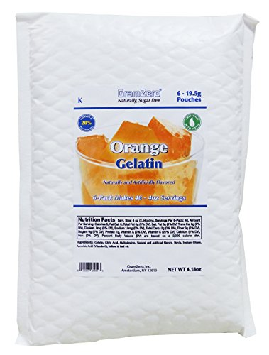 GramZero Stevia Sweetened Sugar Free Gelatin Mix, Orange by GramZero
