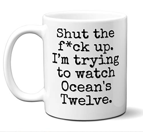 Ocean's Twelve Gift Mug. Funny Parody Movie Lover Fan