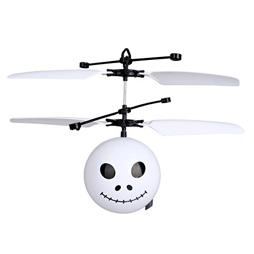 OWIKAR RC Flying Drone Ball Emoji Skull Face Ball Toy Infrared Induction Hand Control Helicopter Mini Flier USB Chargeable for Kids Teens Novelty Flying Toys for Boys Girls - Falcon Emoji