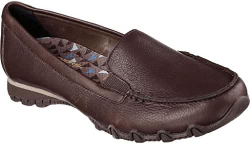Skechers Women's Bikers Pedestrian Memory Foam Slip-On Moccasin
