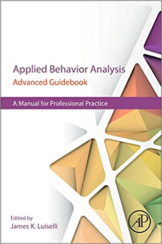 AmazonCom Applied Behavior Analysis Advanced Guidebook A Manual