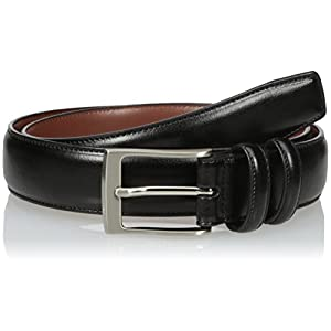 Perry Ellis Mens Hc Milled Belt, Black, 42