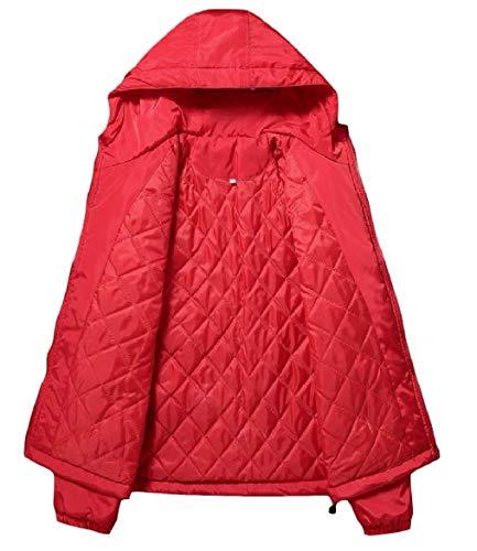 Colore Giacca Cerniera Di Solido Spesso Giacca Vento Outwear A Rosso Stile uomini Universitario Howme Strato TwOqU