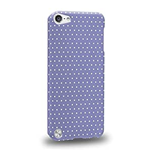 Case88 Premium Designs Art Blue Dot Pattern Carcasa/Funda dura para el Apple iPod Touch 5