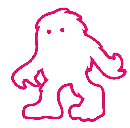 Halloween The Yeti Vinyl Decal Stickers Laptop Car Window Bumper Cup Door Wall Decoration SMA0601 -