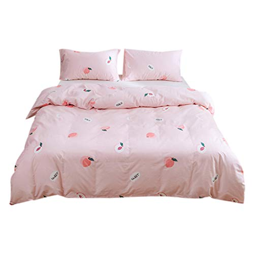 - NEARTIME3-Piece Bedding Quilt Cover - Simple and Fashionable Cotton Soft All-Season Microfiber Printed Bedspread and Coverlet and 2 Pillowcase