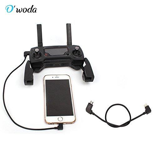 O'woda Micro USB to iPhone / iPad Data Cable 90 Degree Right Angel OTG Cord for DJI MAVIC PRO / SPARK / Mavic Air / Mavic 2 Pro & -